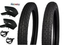1 jeu de pneus 2,75 + 3,00-18 Reinforced Heidenau MZ ES ETS TS K39 K33