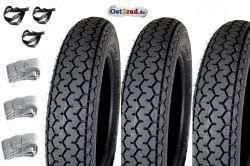 Jeu de 3 pneus Mitas 2.50-12  Pitty Wiesel Troll Berlin