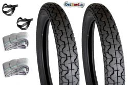 Tyre set Mitas, JAWA, CZ 250, 350, 2x 3,25 - 16 with tube