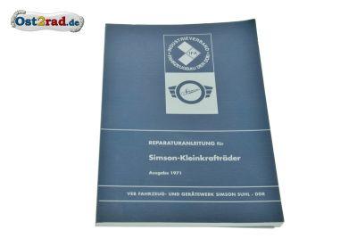Repair handbook Simson SR2, KR50, SR4, Spatz