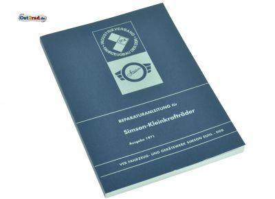 Reparaturanleitung für Kleinkrafträder Vogelserie und SR1, SR2E, KR50 - Ausgabe 1971 (mit Schaltplänen)