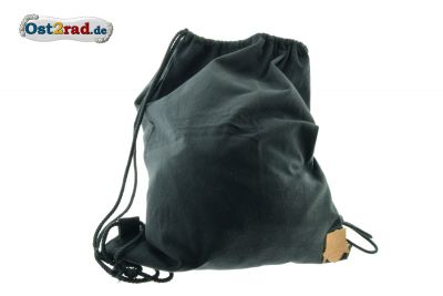Retro-Sportbeutel SIMSON schwarz Laderpatch aus Baumwolle