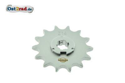 Ritzel kleines Kettenrad Simson S50 KR51/1 Star Sperber Habicht - 14 Zähne