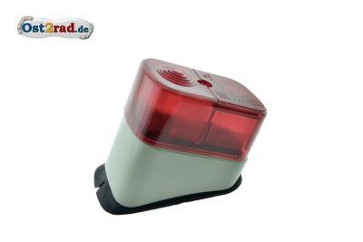 Rücklicht eckig für Simson KR51 Schwalbe, E-geprüft, 12V, Grau-Beige