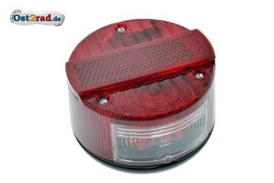 Rücklicht rund komplett passend für Simson S50 S51 SR50 KR51 mit E-Prüfzeichen