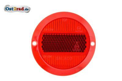 Rücklichtglas Rund für MZ TS und ES mit E-Prüfzeichen