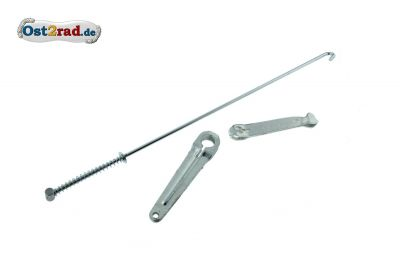 Brake lever set, MZ, brake operating rod
