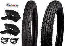 1 jeu de pneus HEIDENAU  MZ ETZ250 K39 K34