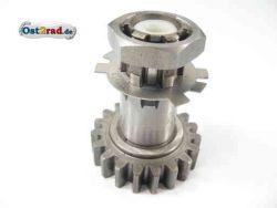 Wheel shaft for gear JAWA638, 639, 640