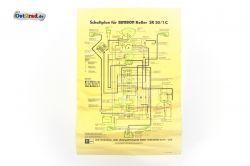 Poster Schaltplan SIMSON Roller SR50/1C 12V ohne Elektrostarter