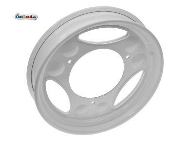 Roller-Scheibenrad 2.10 x 12 - weiß pulverbeschichtet - SR50, SR80, SRA50