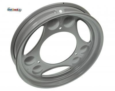 Roller-Scheibenrad 2.10 x 12 - weißaluminium pulverbeschichtet, RAL 9006 - SR50, SR80, SRA50