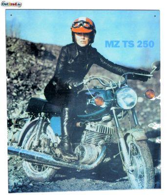 Blechschild passend für MZ TS 250 im Gelände