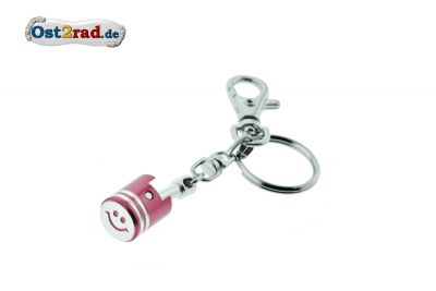 Key Ring piston red