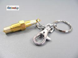 Porte-clé bougie jaune