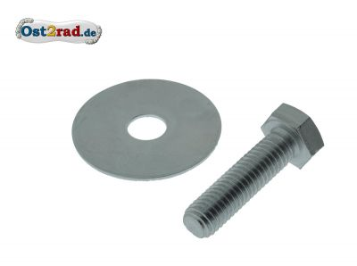 Screw with disk for rear suspension struts MZ, on top