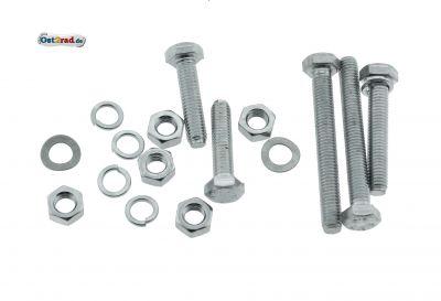 Schraubensatz Fahrgestell Rahmen Kippständer passend für MZ TS 125 150