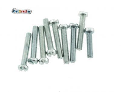 Schraubensatz passend für Simson S51, S70 Motorseitendeckel Schlitz