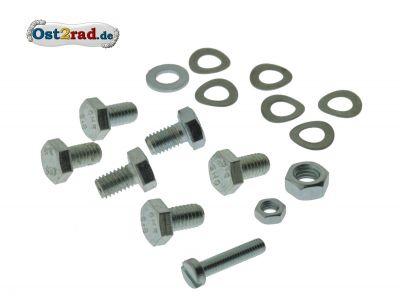 Schraubensatz Fahrgestell Verkleidung, Ansauggeräuschdämpfer, Luftfilter passend für MZ ES 125 150
