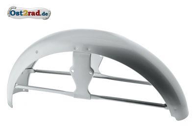 Schutzblech für Simson S50 S51 alte Ausführung, High-End Silber, vorn