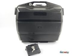 Motorcycle saddlebags for 32 litres black