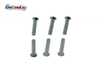 Set countersunk rivet 4x18 for clutch spocket MZ ES, TS, ETZ 125, 150