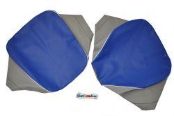 Set Sitzbezüge Einzelsitze SIMSON AWO -S 425 blau-grau