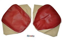 Set Sitzbezüge Einzelsitze SIMSON AWO -S 425 rot-beige