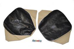 Set Sitzbezüge Einzelsitze SIMSON AWO -S 425 schwarz-beige