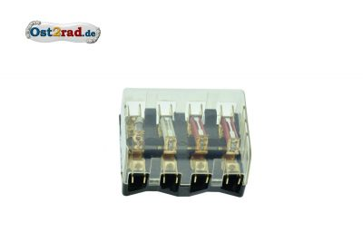 Fuse box 4-fold for round fuses