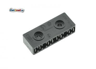 Leitungsverbinder 8800.1/5.1 - Typ 4/0 (4 Doppelbrücken), schwarzes Kunststoffgehäuse - Mokick und Motorrad