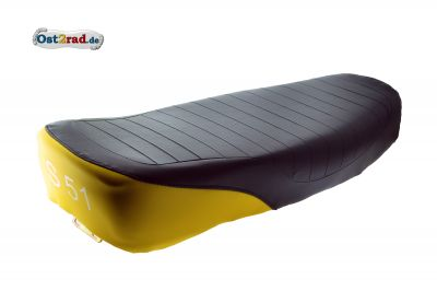 Sitzbank S50, S51, S70 schwarz/gelb, strukturiert
