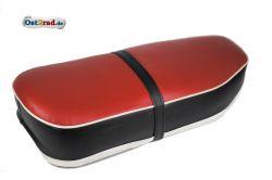 Selle bi-place rouge noir JAWA Panelka 360 559