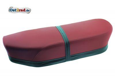 Selle bi-place rouge-noir JAWA CZ 125 - 350 Panelka