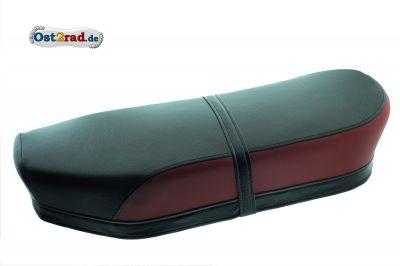 Sitzbank schwarz-rot Jawa CZ 125 - 350 Panelka gerade