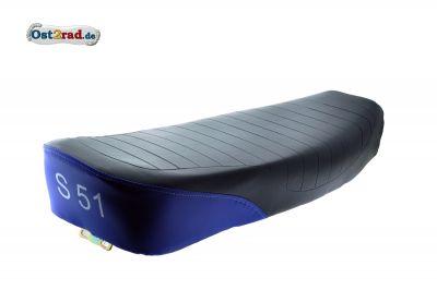 Sitzbank SIMSON S50 S51 S70 schwarz/blau, strukturiert