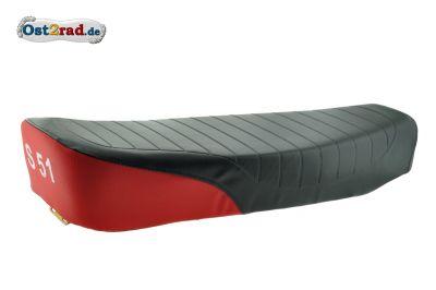 Sitzbank S50, S51, S70 schwarz/rot, strukturiert