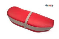 Selle biplace rouge gris JAWA CZ 125-350 Panelka