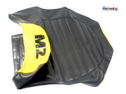Dual seat relation MZ ETZ 125, 150, 251 black / yellow
