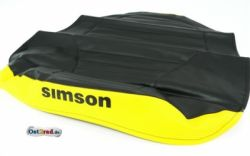 Sitzbezug SR50, SR80 schwarz/gelb strukturiert