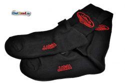 Chaussettes noires avec logo JAWA