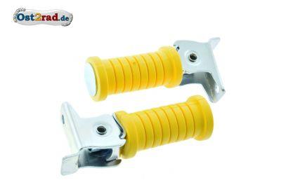 Soziusfußrasten PAAR gelb Simson S50 S51 KR51