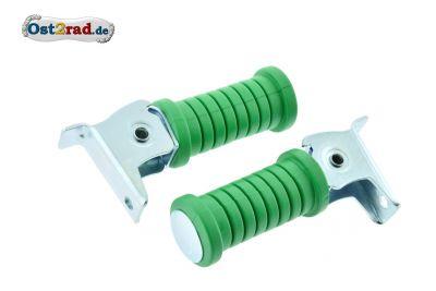 Soziusfußrasten PAAR grün Simson S50 S51 KR51