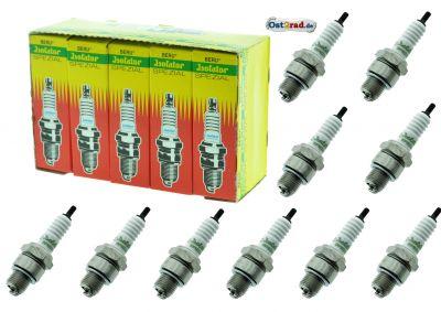 10er Pack Zündkerzen ISOLATOR 260 Sparpack, für Simson, MZ, Jawa