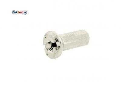 Nippel für Speiche M4 Edelstahl-Optik, Länge 18mm