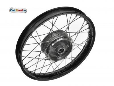 Speichenrad 1,60x16 Zoll Felge schwarz Speichen chrom KR S50 S51 SR4- S53
