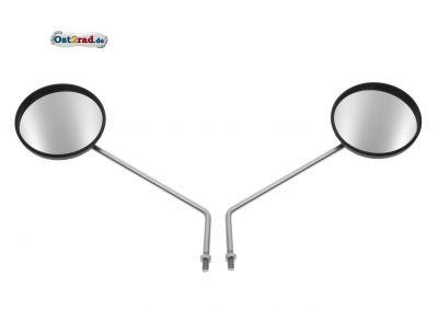 Paar Rückspiegel  Ø110mm Gewinde M8 Muschelform passend für Simson