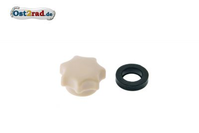 Star knob nut M6 beige, without hole
