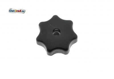 Star knob nut M6 black
