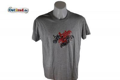 T-Shirt JAWA und CZ Fahrzeuge - GRAU